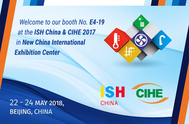 Welcome to our booth at ISH China & CIHE