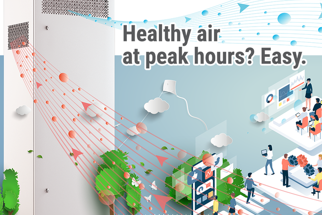 Healthy air at peak hours? Easy.
